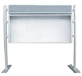 不锈钢展架1-2m(报刊栏)