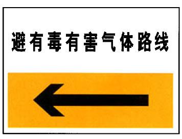 避有毒有害气体路线(铝制反光)