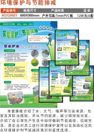 环境保护与节能减排展板