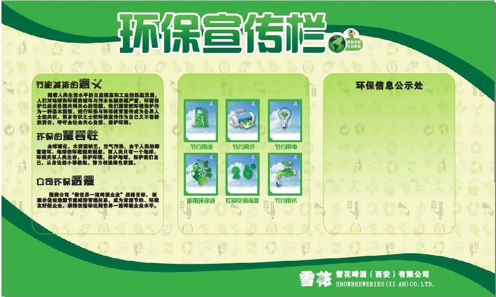 低碳环保宣传展板(5mmpvc户外写真1200×2000mm)
