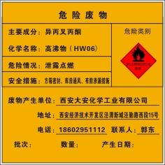 危险废物标签B-3(不干胶制品_20×20mm)